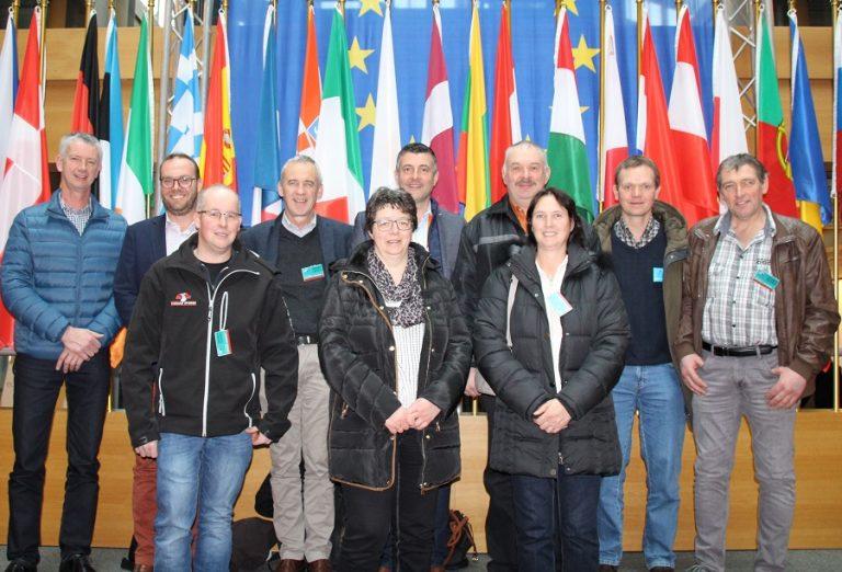 Besuch des Vorstands des ostbelgischen Bauernbunds im Europäischen Parlament in Straßburg