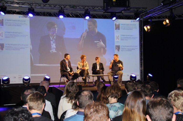 """#BEdigital: """"Ein digitaler europäischer Binnenmarkt - ein Vorteil für Ihr Unternehmen?"""" - über dieses Thema habe ich auf der Digital First Messe in Brüssel mit Julia Reda von den Piraten und Saskia Van Uffelen, CEO von Ericsson Belux, diskutiert."""