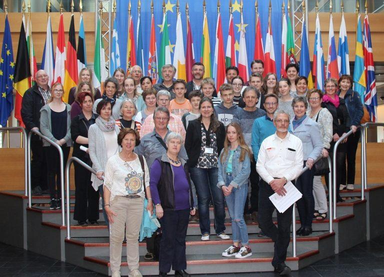 Besuch des Ensemble Eastbelgica im Europäischen Parlament in Straßburg