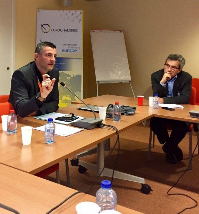 """#DigitaleAgenda - """"KMU haben Vorfahrt"""" - Austausch bei """"Eurochambers"""", dem europäischen Verband der Industrie- und Handelskammern. In meiner Funktion als Verhandlungsführer des Europäischen Parlaments für den grenzüberschreitenden Online-Handel habe ich betont, dass - neben den Verbrauchern - insbesondere kleine und mittlere Unternehmen (KMU) von europaweit harmonisierten Vertragsregeln beim Online-Kauf profitieren müssen."""