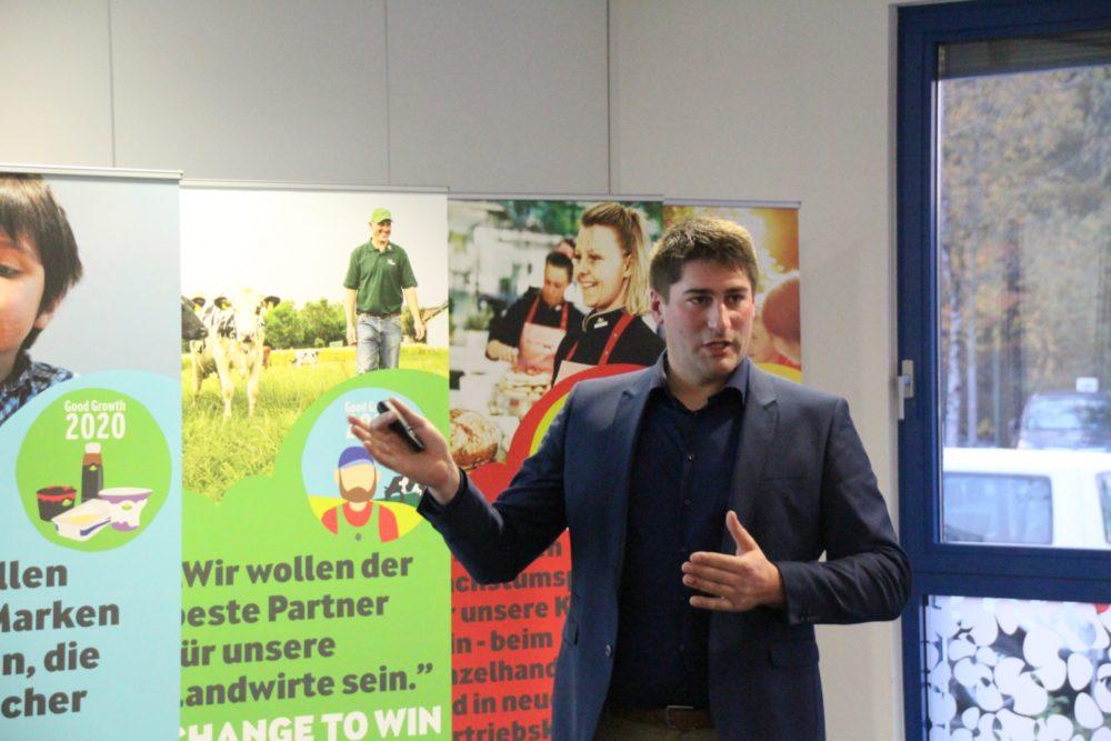 Marcel Goffinet, belgisches Aufsichtsratsmitglied von Arla Foods, erläuterte das Umweltkonzept