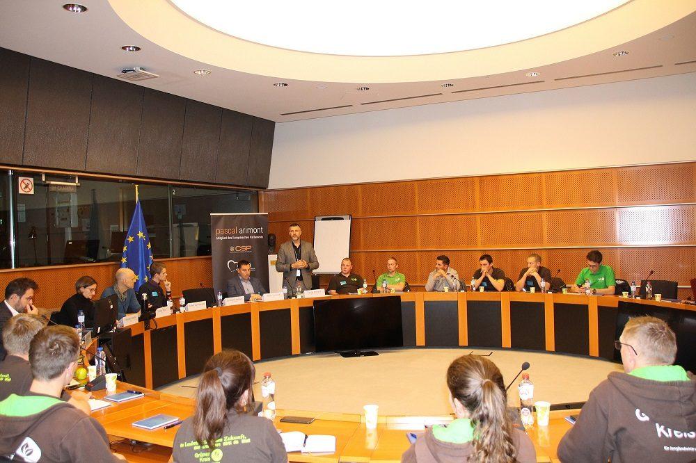 Austausch mit Experten: Pascal Arimont und Vertreter des Grünen Kreises initiierten die Mercosur-Debatte.