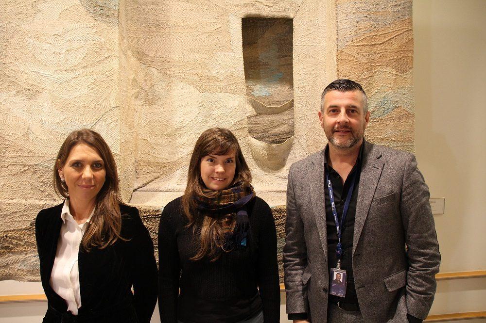Die Regionalabgeordneten Christine Mauel und Anne Kelleter mit dem EU-Abgeordneten Pascal Arimont (v.l.).