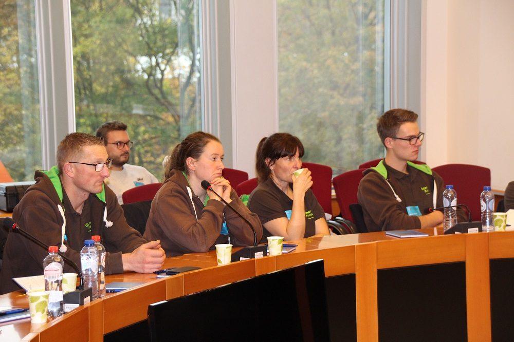 Vertreter des Grünen Kreises bei der Debatte.