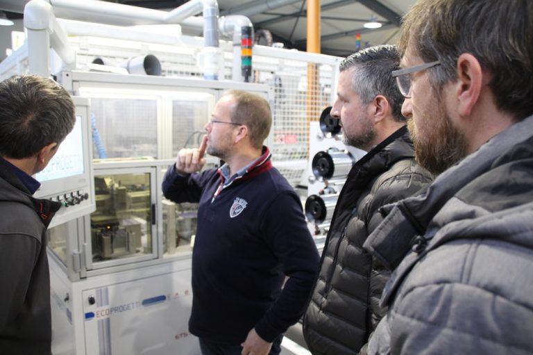 Gemeinsamer Besuch mit Werner Greimers und Carlo Rauw vom Büllinger Elektro-Unternehmen Isytec bei dem Photovoltaik-Hersteller Evocells in Baillonville bei Marche-en-Famenne