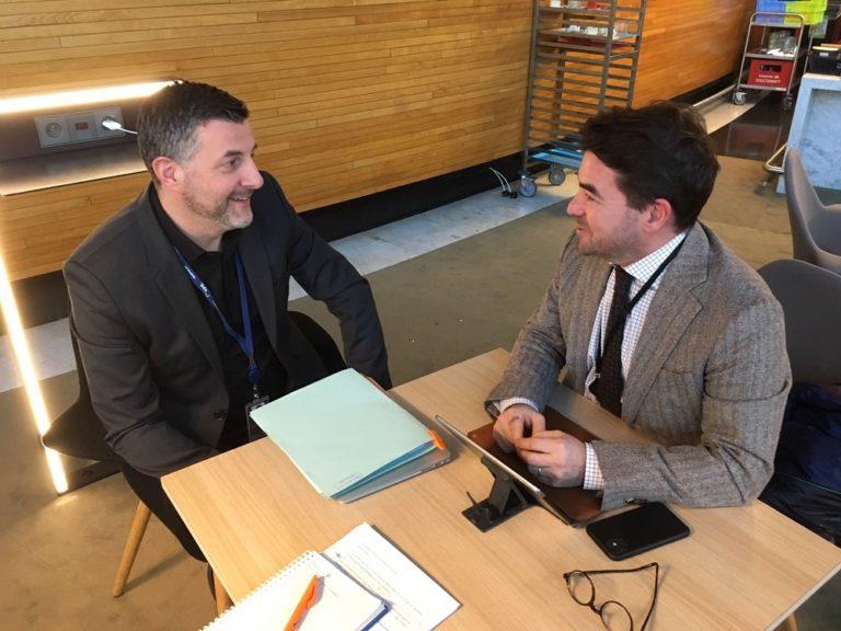 """Austausch mit Olivier De Wulf von ENGIE zum """"Europäischen Green Deal"""" und der Zukunft des europäischen Elektrizitätsmarktes."""